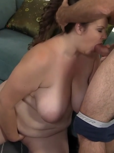Naughty BBW gets her pussy licked then fucked hard by older guy