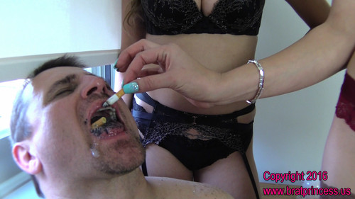 Brat Princess 2: Amadahy and Sasha – Use Chastity slave as Human Ashtray (1080 HD)