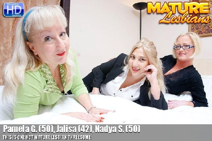 [Mature] Pamela G. (50), Jalisa (42), Nadya S. (50) [540p/18.04.2014, Milf, Blondes, Stockings, Shaved Pussy, Lesbians, Oral, Anil…