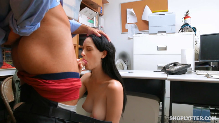 Forced Blowjob in shoplyfter movie