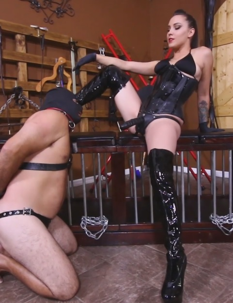 Pegging Slave 142's Ass