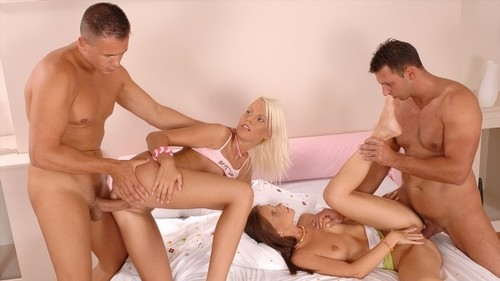 Evelyne Foxy, Pink Pussy - Hardcore Orgy Full of Fucking (720) Cover
